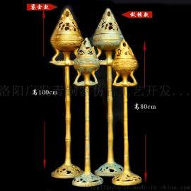 青铜器摆件竹节博山炉铜熏炉影视汉婚道具厂家定制