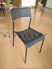 厂家批发塑料靠背四脚办公椅座背板颜色可选