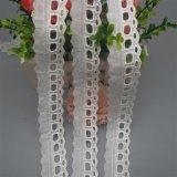 穿絲帶棉布月牙花邊 鏤空純棉刺繡花邊 棉布拼接花邊