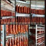 供应猪肉腊肠烟熏炉 舒克隧道式烘干腊肉设备熏烤上色一体机小型
