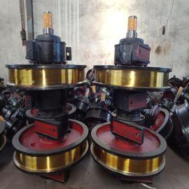 单边车轮组 铸钢套装行车车轮组 主动被动轮子