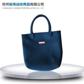 简约休闲购物袋批发定制 休闲购物袋 优良潜水料购物袋