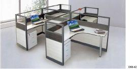 上海办公家具 4人组合办公桌办公室家具 简洁 时尚办公桌屏风隔断
