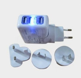 4-port power adapter 智能数码産品配件适配器 PSE认证4个USB适配器 UL认证4USB電源适配器 CCC认证4USB适配器
