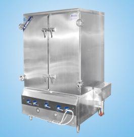 北京节能型燃气蒸箱 推车式蒸箱 豪华型双循环蒸饭柜