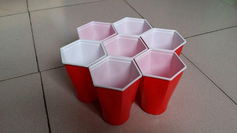 一次性雙色杯/聚會杯/六角杯