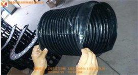 江苏供应伸缩式丝杠气缸油缸光杠圆形导轨防护罩/橡胶保护套