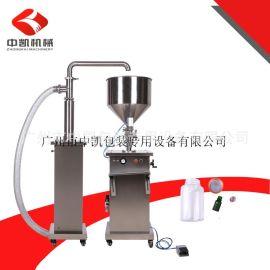 厂家批量供应半自动酱体、膏体灌装机 配自动抽料 瓶子灌装机