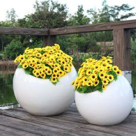 特价热销玻璃钢花盆 圆形组合花钵 商场美陈装饰