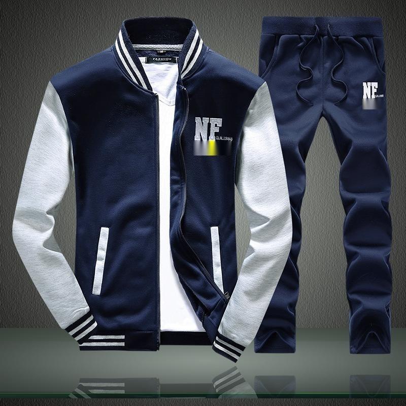 春季新款潮男韓版男士運動套裝衛衣休閒開衫大碼棒球服批發定製