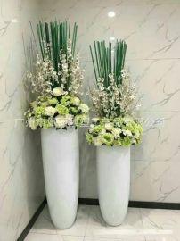 创意**花盆玻璃钢 简约现代时尚 立体组合圆形装饰花瓶