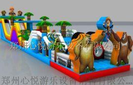 新款充气障碍闯关类气垫趣味玩具-熊出没乐园