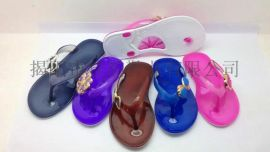 揭阳厂家供应女款时尚水晶拖鞋