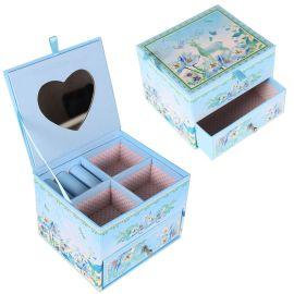 创意家居桌面饰品收纳盒时尚卡通首饰盒包装双层抽屉盒礼品纸盒