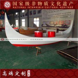 6米兩頭尖木船歐式風格手劃船 歐洲風格旅遊觀光木船 木質裝飾船 款式可定制