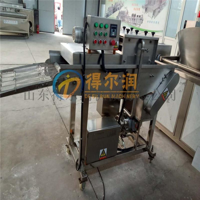 得尔润自动鱼排裹糠机设备 DR出彩面包虾上浆裹糠机