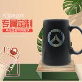 陶瓷色釉杯来图加工  马克杯定制LOGO出口