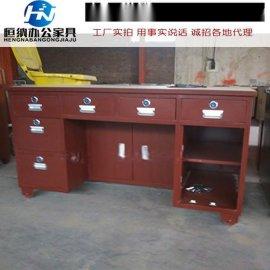 粮油店全钢带电子保险柜老板桌 1.3米收银桌班台价格