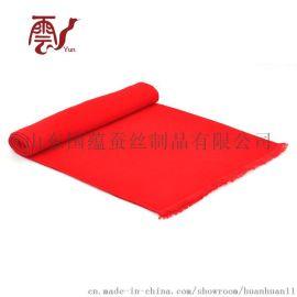 大红色围巾定制LOGO-中国红围巾-年会红围巾