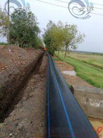 pe160给水管供水管材hdpe管道厂家黑色供水管