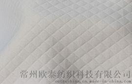 针织夹棉保暖面料/精梳纯棉空气层布