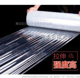 缠绕膜 透明PE拉伸膜 手工打包用塑料包装薄膜定制