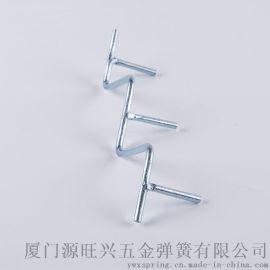 弹簧钢表面镀锌 烤漆焊接转角拐弯线性艺性指示牌