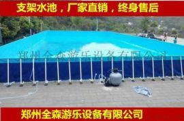 户外大型支架水池移动充气水上乐园游乐设备