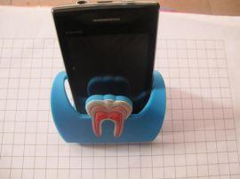 牙齒圖案手機座,動物系列手機支架,pvc印刷手機座