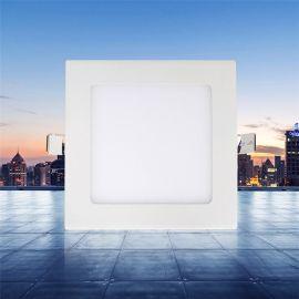 厂家直销6W12W18W24W暗装窄边led面板灯 卡簧室内天花平板灯