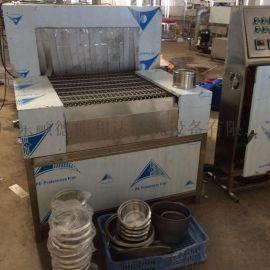 不锈钢厨具抛光蜡清洗自动线 通过式喷淋清洗烘干设备