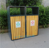 户外公园景点防腐木垃圾箱旅游区特色垃圾桶厂家直销