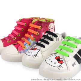 厂家批发儿童鞋带 免绑免系防摔倒懒人鞋带 亚马逊热销硅胶鞋带