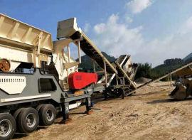 轮胎式移动破碎站,移动式建筑垃圾处理设备-恒美百特