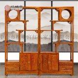 红木博古架中式刺猬紫檀多宝阁檀明宫红木家具中海棠花梨木古玩架