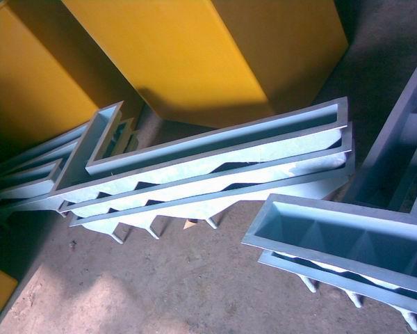 按圖訂製玻璃鋼耐酸耐腐七字形漏斗