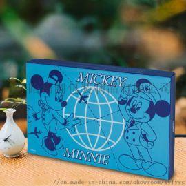 定制精品迪士尼天地盖盒彩印卡纸盒