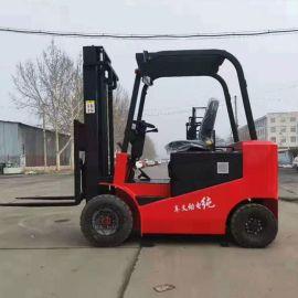 环保型电动叉车 四轮电动堆高车卸货车