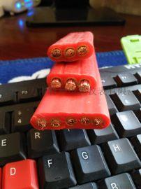 奥力申扁电缆YFGB 4x16mm2耐高温扁电缆