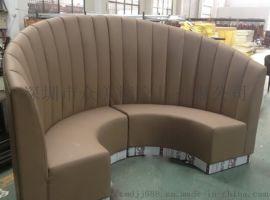 餐饮店卡座酒吧KTV沙发定做U型沙发半圆卡座供应
