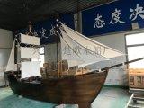 现货出售福建商场室内装饰船小型景观海盗木船厂家直销