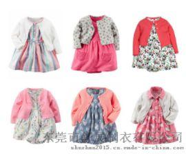 外贸ins婴儿裙子套装 女童针织 爆款哈裙+小外套