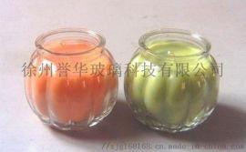 开发定做 南瓜玻璃烛台,西瓜烛台,出口玻璃烛台