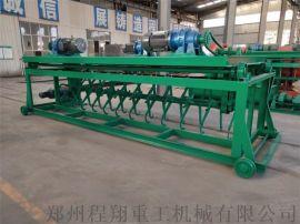 鸡粪加工有机肥发酵设备,槽式翻堆机(翻抛机)厂家直销