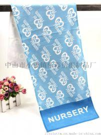 厂家定制超细纤维巾数码热转印运动毛巾