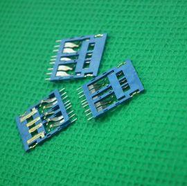 厂家直销USB 3.0 **H1.05超薄型9PIN等距U盘K宝专用COB连接器