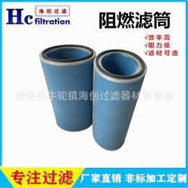 河北厂家直销 纳米纤维滤筒 PTFE覆膜阻燃除尘滤芯 抛丸机滤筒