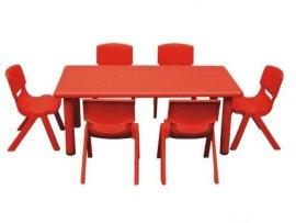 幼儿园塑料桌  耐用 安全环保  耐脏 易清洗