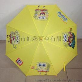 海绵宝宝广告伞 厂家直销21寸胶弯柄直杆礼品伞 促销伞