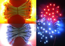 广告灯串黄光/F5灯串/外露灯串/穿孔灯/防水灯/广告灯/LED装饰灯